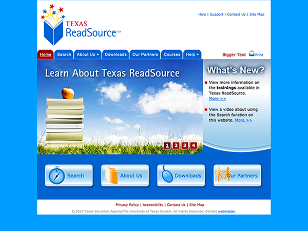 Website Texas ReadSource